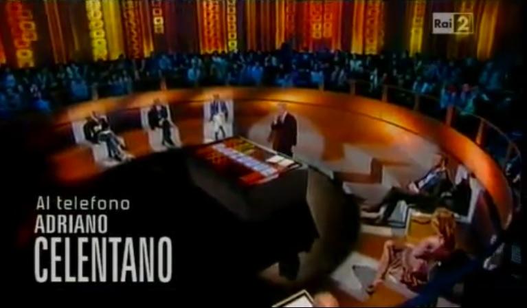 Adriano Celentano in collegamento telefonicao su Raidue ad AnnoZero di Michele Santoro (puntata del 2011)