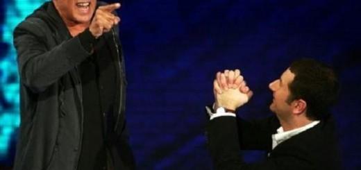 Adriano Celentano e Fabio Fazio a 'Che tempo che fa'