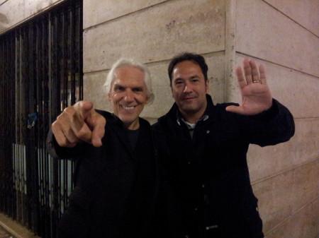 Gianni Dall'Aglio e un rappresentate di ACfans.it a Verona