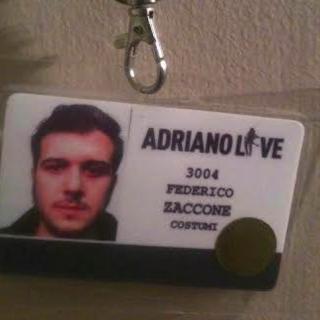 Federico Zaccone - Tesserino 'Adriano Live'