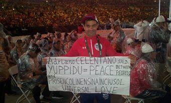 """Sul cartello """"celentanesco"""" apparso alle Olimpiadi di Rio…"""
