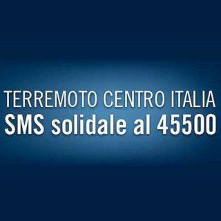 Terremoto Centro Italia - SMS solidale
