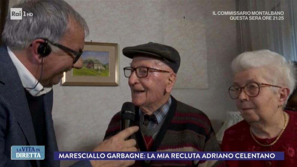 """il maresciallo Aldo Garbagne a """"La vita in diretta"""""""
