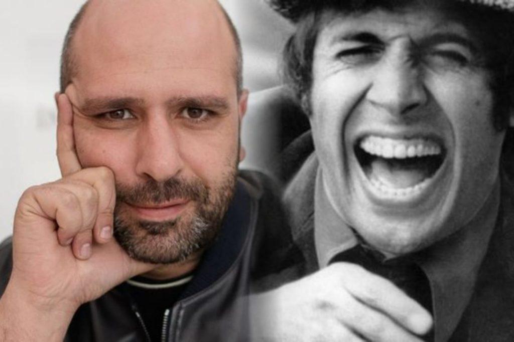 collage con Adriano Celentano e Checco Zalone